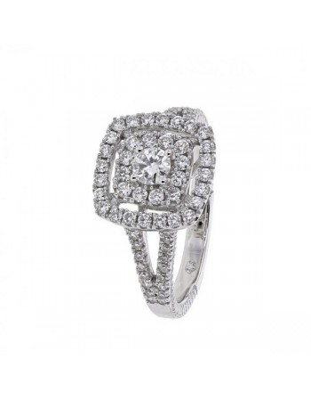Diamond ring in white gold - 18 K gold: 4.50 Gr