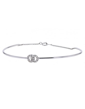 Diamond bracelet in white gold - 9 K gold: 2.35 Gr