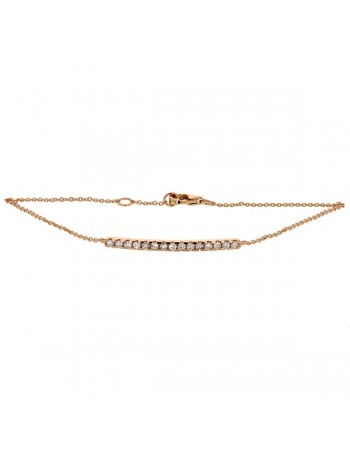 Diamond bracelet in rose gold - 18 K gold: 1.65 Gr