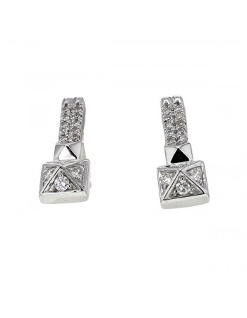Studs pave set diamonds earrings in 18 K gold
