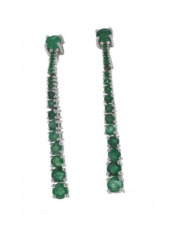 earrings in white gold - 18 K gold: 4.90 Gr