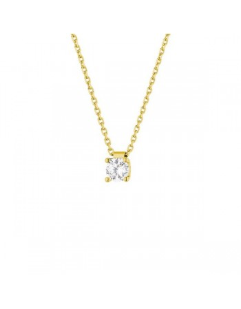 Diamond necklace in yellow gold - 18 K gold: 2.70 Gr