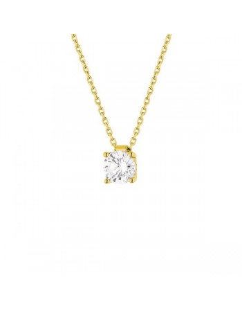 Diamond necklace in yellow gold - 18 K gold: 2.80 Gr