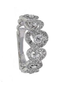Alliance déclaration dégradée ab diamants en or blanc