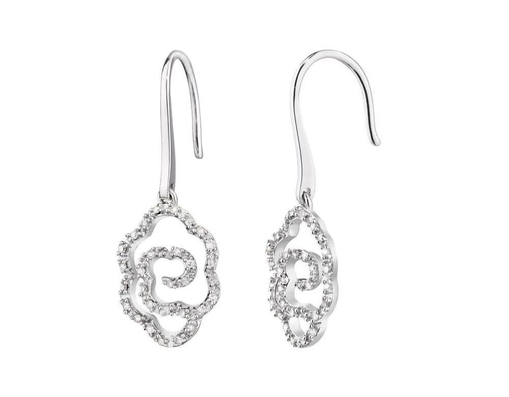 boucles d 39 oreilles diamant boucles d 39 oreilles fleurs avec diamants. Black Bedroom Furniture Sets. Home Design Ideas
