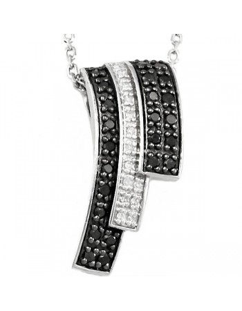 Diamond necklace in silver 925/1000