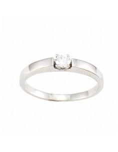 Bague solitaire diamant massif moderne en or blanc