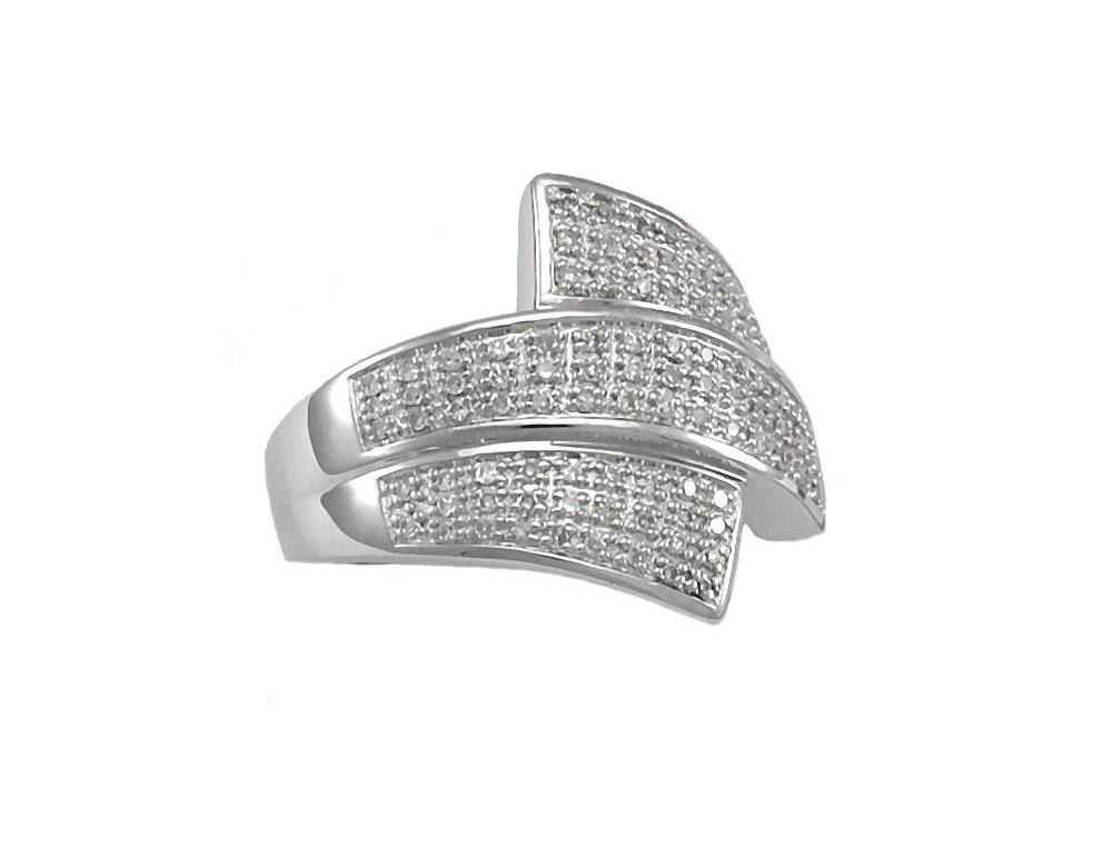silver and diamonds engagement ring pave set diamond ring