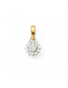 Pendentif chou diamants en or jaune