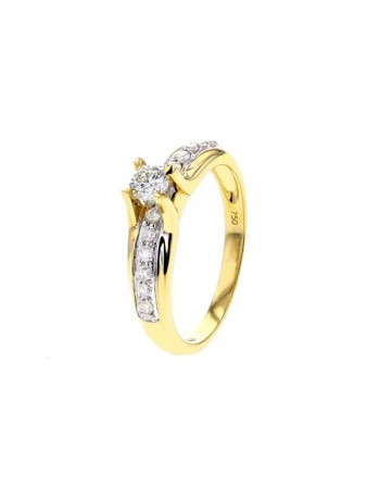 4 claw solitaire engagement ring in 18 K gold