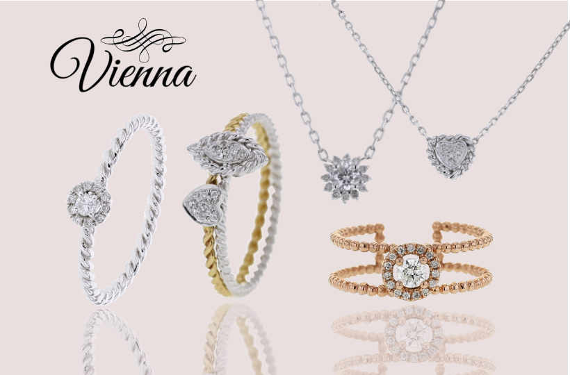 Vienna - 9KT collection with diamonds
